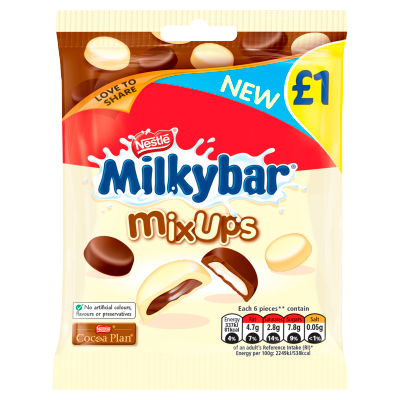 Milkybar Mix Ups White and Milk Chocolate Sharing Bag 78g