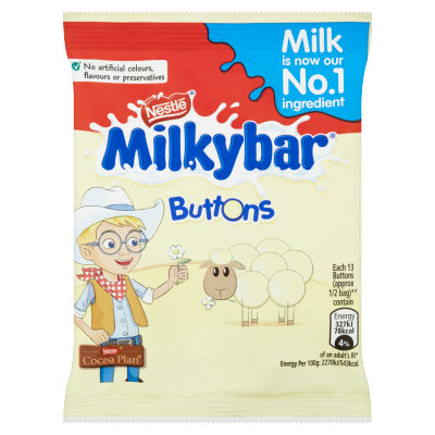 Milkybar® White Chocolate Buttons Bag 30g