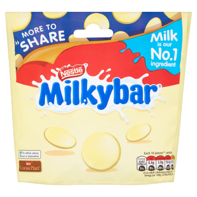 Milkybar White Chocolate Giant Buttons Sharing Pouch 212g