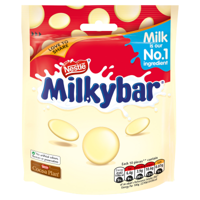 Milkybar White Chocolate Giant Buttons Sharing Pouch 103g