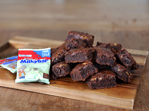 Milkybar<sup>®</sup> chocolate brownies