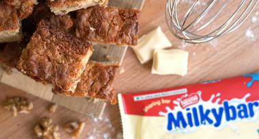Milkybar<sup>®</sup> & Walnut Brownies