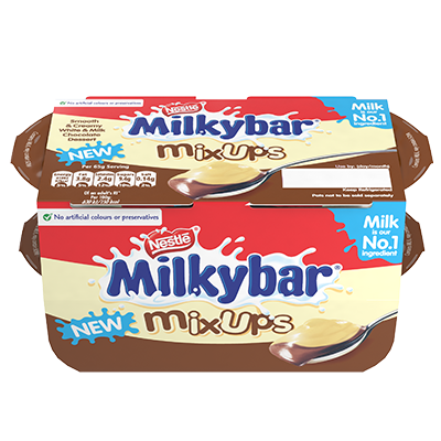 Milkybar® Mixups Dessert White and Milk Chocolate 4 x 65g