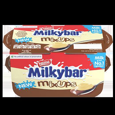 Milkybar® Mixups Dessert White and Milk Chocolate 4 x 65g